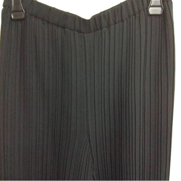 PARlS プリーツプリーツパンツ ウエストゴム 黒色 サイズ67-94_画像2