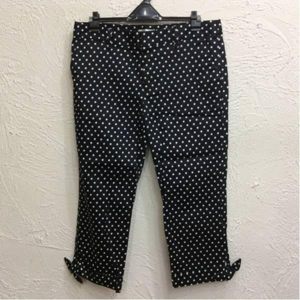 ロペピクニック 七分丈パンツ 裾脇リボン 黒色&白色ドット柄 サイズ40