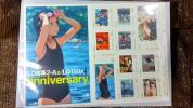 ※未使用※ LO画集2-A & LO150号 発売記念 紙上通販 切手シート たかみち 茜新社