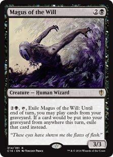 え黒 意志の大魔術師 1枚(4枚在庫s 英 良品 C16)/Magus of the Will(MTG_画像1