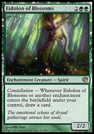 え緑 開花の幻霊 1枚(4枚在庫s 英 良品 JOU)/Eidolon of Blossoms(MTG ニクスへの旅/Journey into Nyx/)_画像1