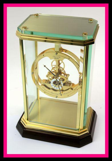 SEIKO セイコー DECOR デコール スケルトン クリスタル スモールセコンド AZ728G 015D 高級置時計 セイコークロック ローマン数字 ゴールド