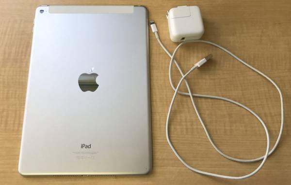 ★Apple アップル iPad Air2 A1567 64GB Wi-Fi+Cellular A1567 SoftBank シルバー×ホワイト_画像2