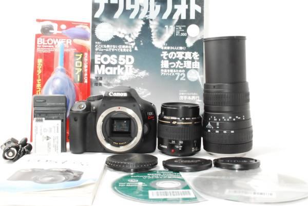 ★極上美品 Canon キャノン EOS Kiss X4 超望遠 300mm キャノン純正ダブルズームレンズ 取扱説明書・SDカードなど豪華おまけ付き★