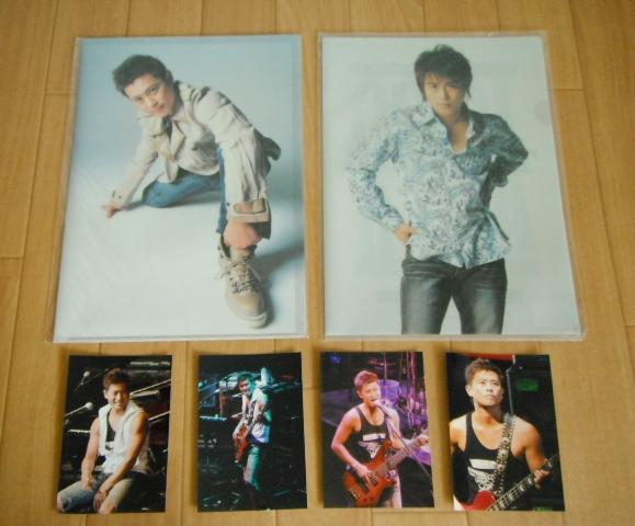 ※未使用 TOKIO山口達也 クリアファイル2枚&公式写真4枚セット