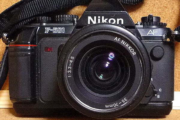 Nikon F-501とNikon 35-70mm f:3.3-4.5 ジャンク
