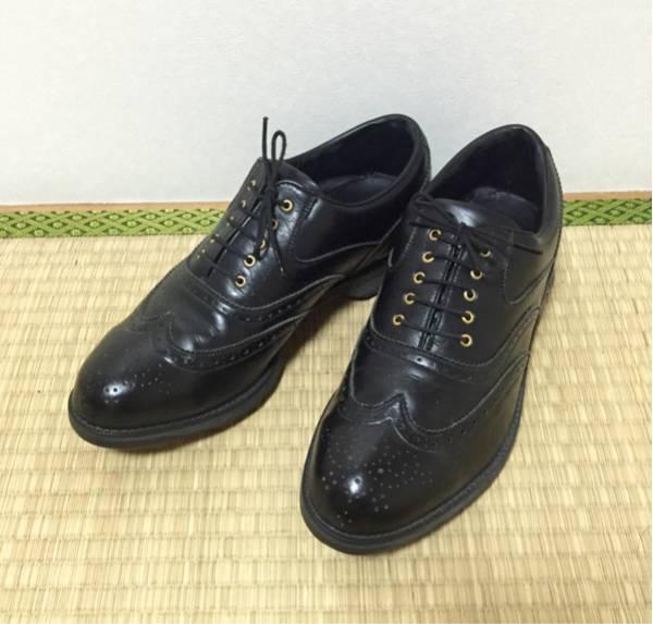 極美品 ミズノ MIZUNO ウイングチップ レザー ゴルフシューズ 黒 M(26.0程度)