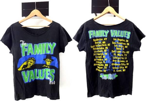 90sビンテージ『Family Values Tour 1998』オフィシャルTシャツ■ファミリーバリュースツアー■KORN、Ice Cube、Incubus、Limp Bizkit参加
