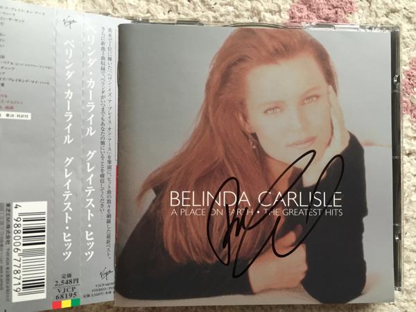 ベリンダ・カーライル/Belinda Carlisle/ゴーゴーズ 直筆サイン入りCD