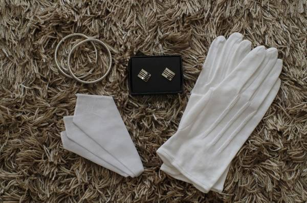 ■新品即決■結婚式父親衣装 小物6点フルセット■燕尾服■07_画像3