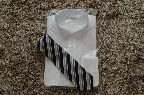 ■新品即決■結婚式父親衣装 小物6点フルセット■燕尾服■02_画像2
