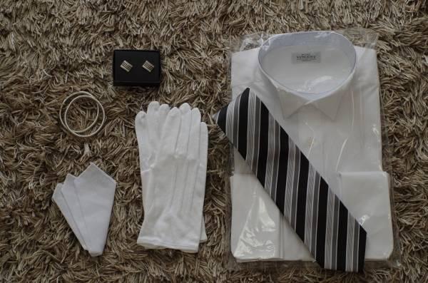 ■新品即決■結婚式父親衣装 小物6点フルセット■モーニング■08_画像1