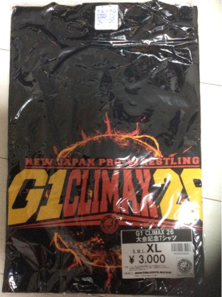 ★新品定価半額以下!!!★ 新日本プロレス G1CLIMAX26 大会記念Tシャツ XLサイズ  グッズの画像