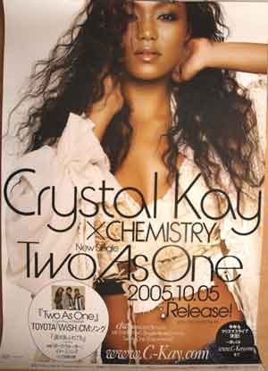 Crystal Kay×CHEMISTRY 「Two As One」 ポスター