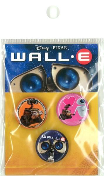送料無料!WALL-E/ウォーリー・バッヂ3種セット_未使用美品 ディズニーグッズの画像