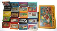 まとめ売り スーパーマリオブラザーズ ファミコンケース カセット まるごと ヨッシーのクッキー ドラゴンボール 他 レトロ 当時物