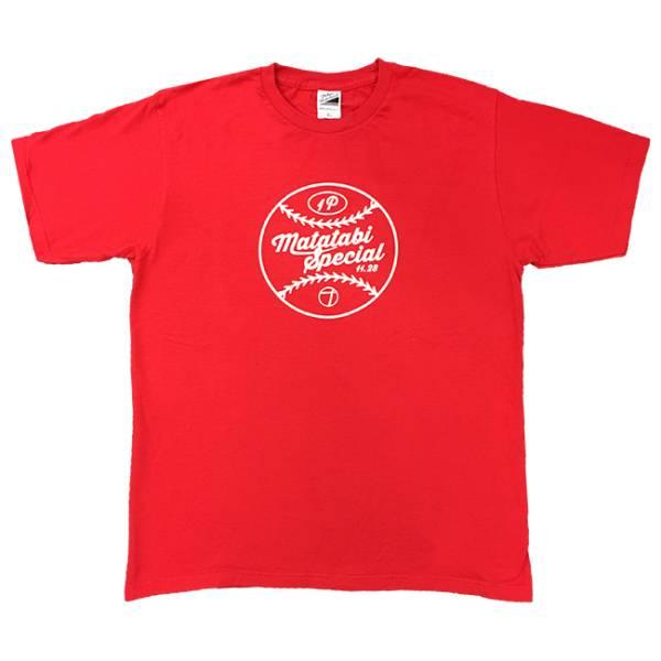 奥田民生 ひとり股旅スペシャルTee赤 Tシャツ XLサイズ マツダスタジアム 2015 11.28 未使用 ライブグッズの画像
