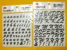 3M Scotchcal フィルム『アルファベット 筆記体 大文字&小文字 2枚セット』◆スコッチカル