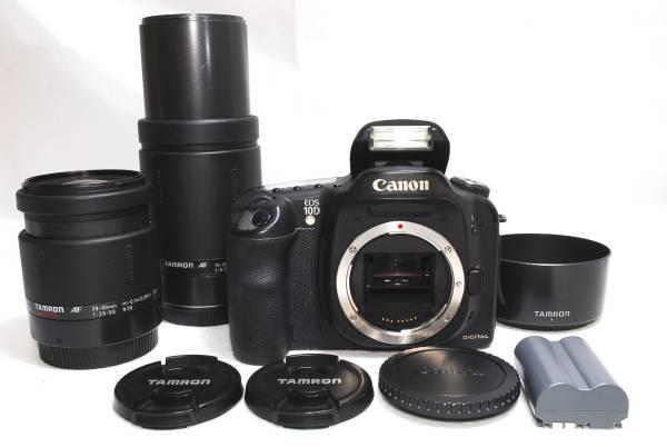 ★【極上美品】Canon キャノン EOS 10D 300mm 超望遠 W ダブルズームレンズセット 「デジタル一眼をこれから初めるあなたにおすすめ!」