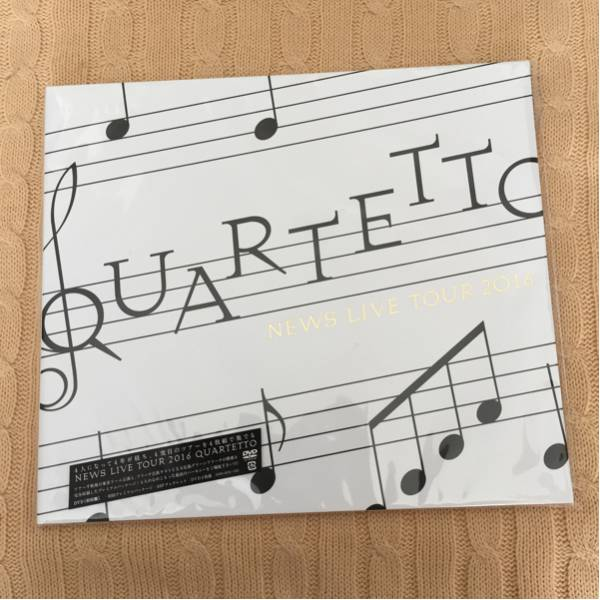 NEWS LIVE TOUR 2016 QUARTETT 初回盤 コンサートグッズの画像