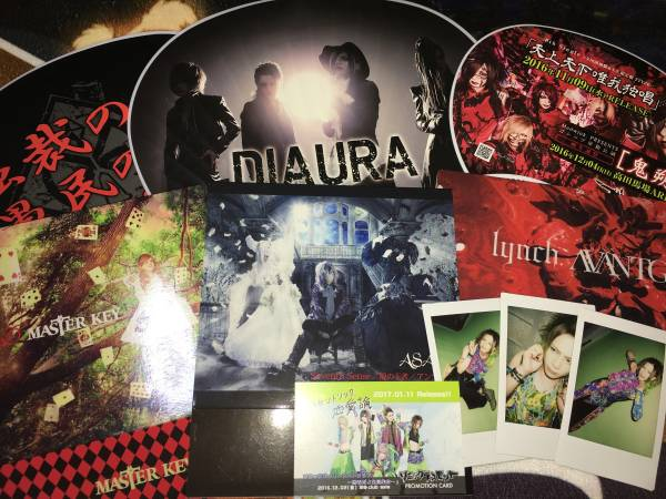 DIAURA/ゴシップ/グリーヴァ/Dディー/ASAGI/ソニックデスモンキー/lynch. CD購入特典&グッズ&チェキセット