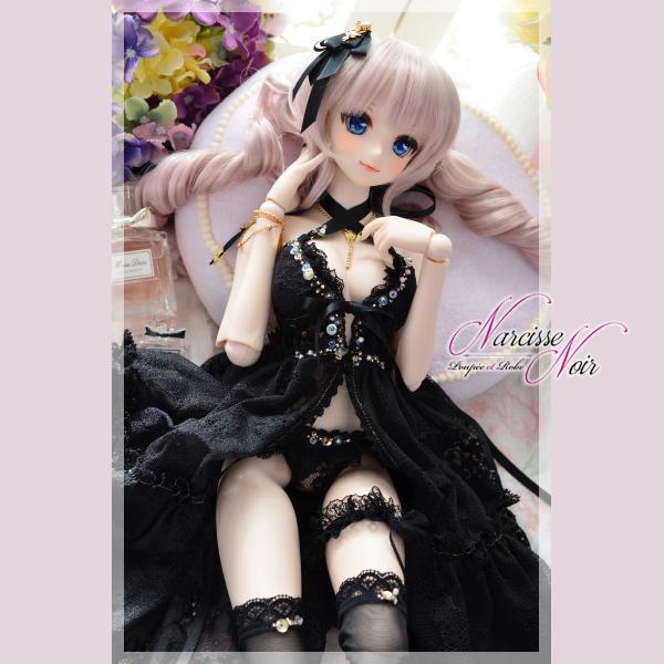 ◆Narcisse Noir◆ DD M~L胸 黒猫ベビードールセット LUNA ◆_画像2