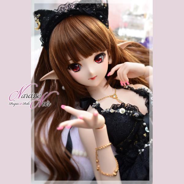 ◆Narcisse Noir◆ DD M~L胸 黒猫ベビードールセット LUNA ◆_画像3