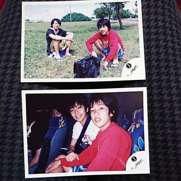 嵐 二宮和也 Jr.時代 公式写真 2枚セット Jロゴ ハワイ