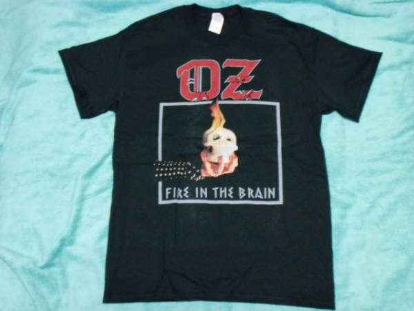 OZ オズ Tシャツ M バンドT ロックT Fire In The Brain Heavy Load Torch_画像1