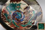 【航】旧家初だし 加賀国 九谷焼 古九谷 龍之図 菓子鉢 菓子器 青手九谷 初荷 骨董 古玩 古美術品 古道具