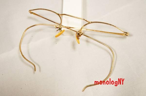 AO ビンテージ 1940s アメリカンオプティカル NUMONT ジョンレノン FULVUE 眼鏡 12KGF_画像3