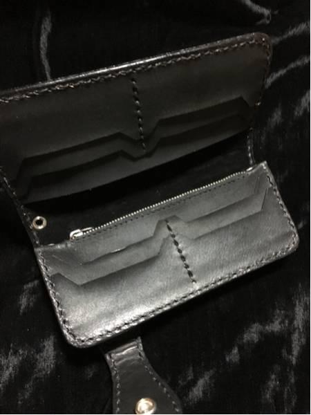 本革 サドルレザー  長財布 レザー カービング ウォレット ヌメ革 ターコイズ 黒 ブラック 手縫い ロングウォレット コンチョ_画像3