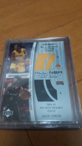 2002-03 UD HONOR ROLL ALL NBA DURL JERSEY KOBE/IVERSON レトロカード グッズの画像