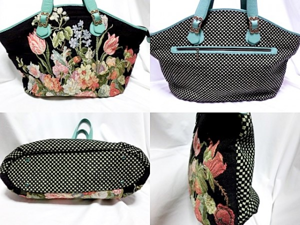 ■Think Bee! 【シンクビー】 BIG トートバッグ ゴブラン織 美品 ★春の花が満載のこの季節に持ちたいバッグです。_画像2