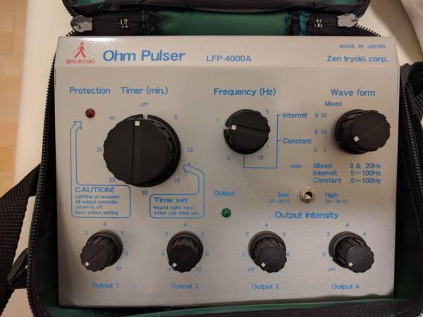 ☆1円から![中古・美品] 全医療器 Ohm Pulser オームパルサー LFP-4000A 鍼灸院開業等に最適です