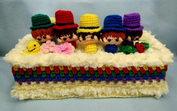 嵐 ハンドメイド ティッシュカバー ケーキ