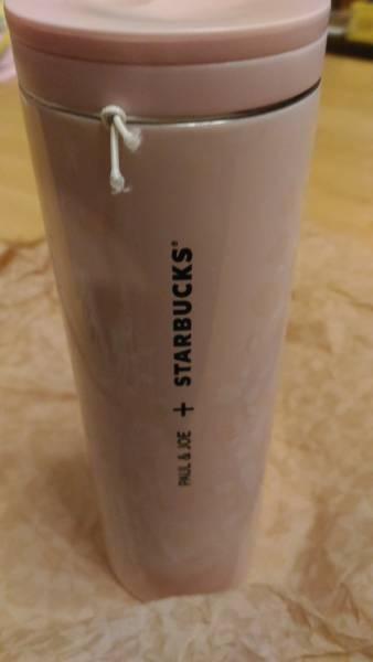 【即送付可能】Paul&Joe(ポール&ジョー)×StarBucks(スタバ) ネコ&桜 ステンレスボトル タンブラー_画像3