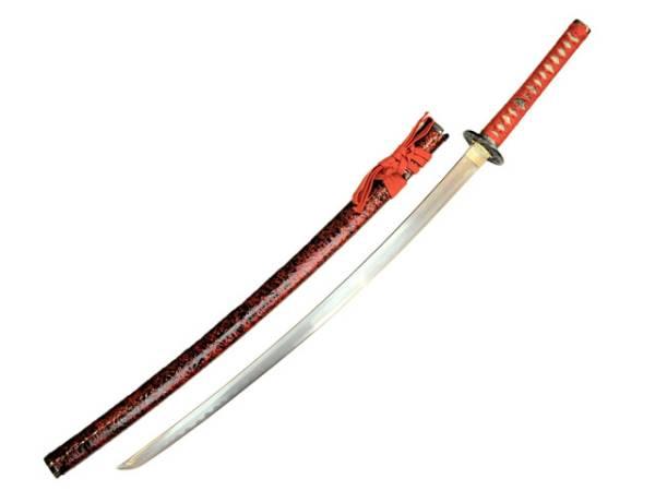 模造刀(美術刀) オリジナル 赤雲  大刀  アルミ刀身◆模擬刀 刀 刀剣  コスプレ  演劇用 時代劇 アニメ
