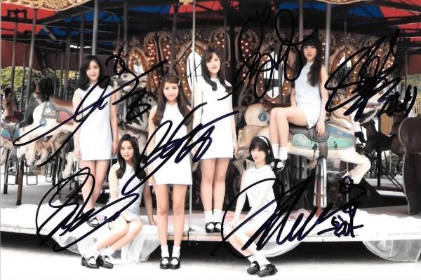16.8★GFRIEND★「L.O.L」全員直筆サイン入り公式写真 607 証明書付