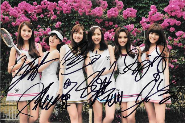 16.8★GFRIEND★「L.O.L」全員直筆サイン入り公式写真 609証明書付