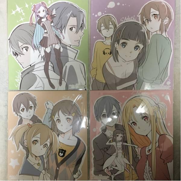 劇場版 SAO ソードアートオンラインオーディナルスケール 入場者特典第4弾 色紙全4種セット ポートレート グッズの画像