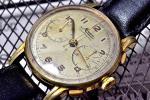 激稀少★Minervaミネルバ 機械式 手巻き クロノグラフ 腕時計13-20CH搭載 1950年代製造 「ギャラリーフェイク」※モンブラン