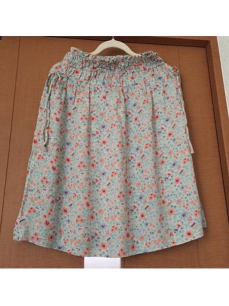 美品 花柄 フレア スカート シフォン スカート リバティ柄_画像1