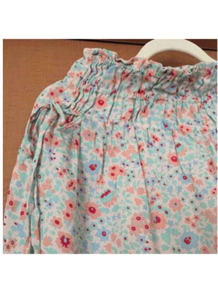 美品 花柄 フレア スカート シフォン スカート リバティ柄_画像2
