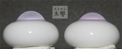 *グラスアイ玉響*薄藤色とピンクのグラデーション16ミリ_画像2