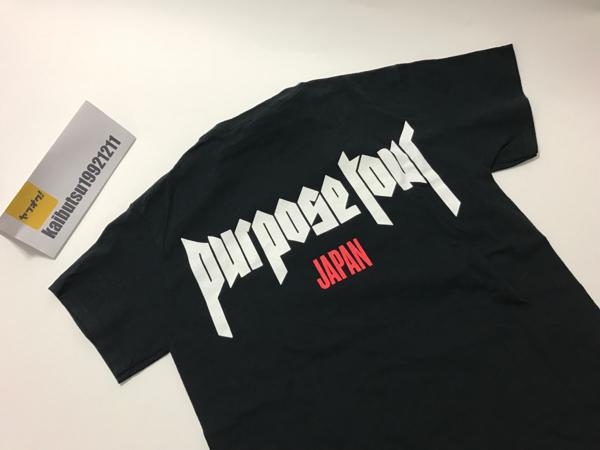 日本限定 justinbieber purposeTシャツ S ジャスティンビーバー ライブグッズの画像