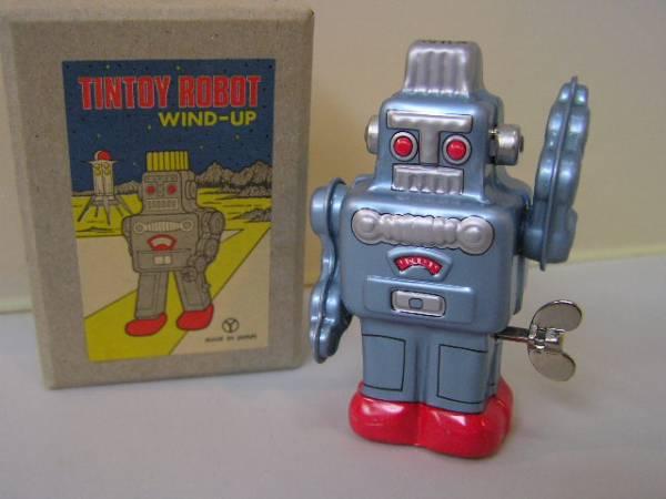 new goods # { tin plate. toy }zen my . move robot blue #