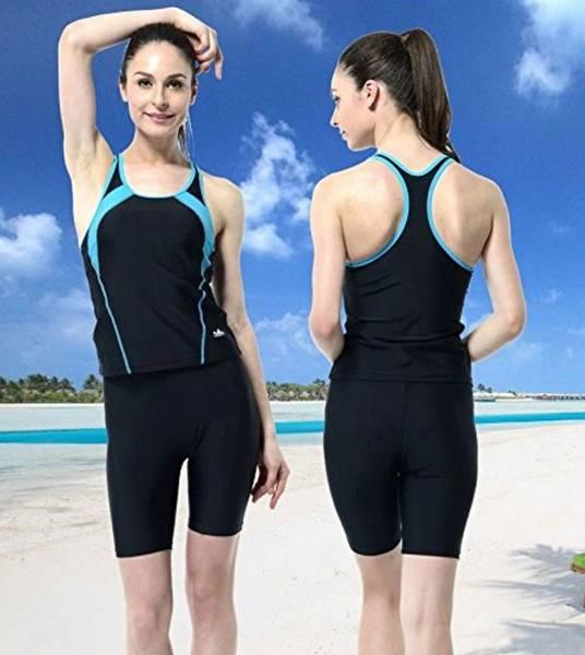 fd14b88bba6 ... 競泳水着+ シリコンキャップセット胸パット付き) フィットネス水泳スイムウェア. 商品數量: :1