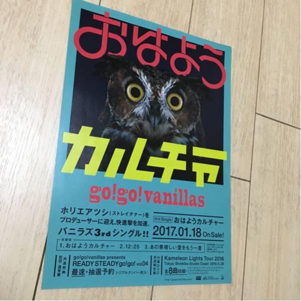 go! go! vanillas おはようカルチャー cd シングル 発売 告知 チラシ ホリエアツシ ストレイテナー 3rd