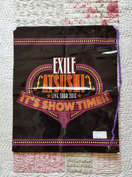 ☆EXILE ATSUSHI ☆ IT'S SHOW TIME☆ツアーグッズ エコバッグ(小)♪